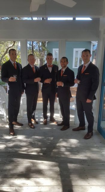 Boys are back in town! Another look back at the Men of the Chase Wedding.