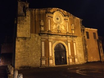 Old building at night